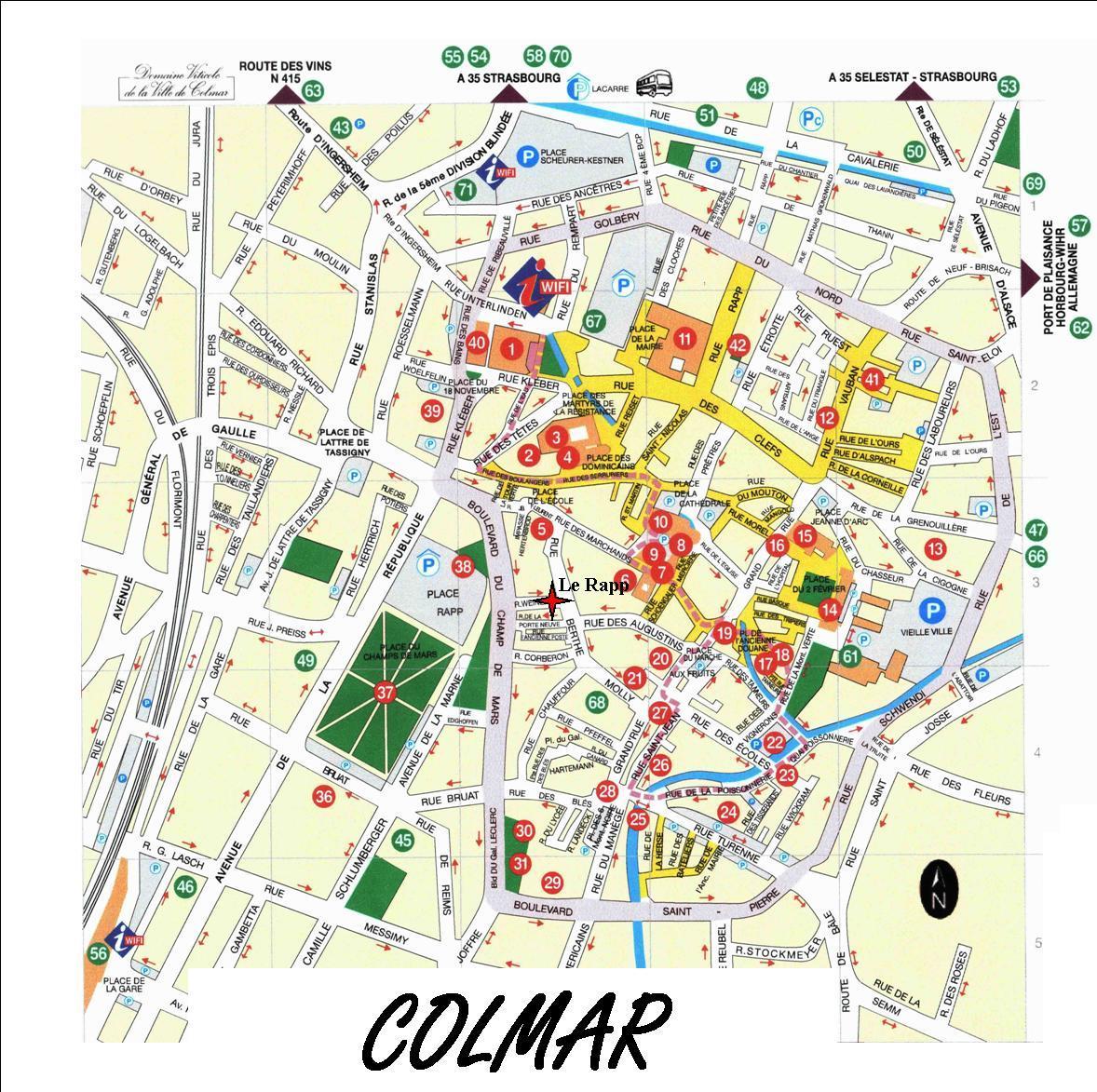 Ville De Colmar Plan